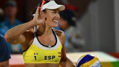 Liliana Fernández, durante un partido. (AFP)