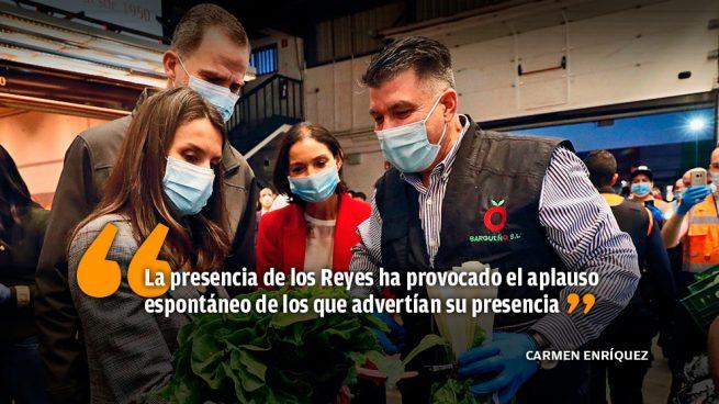 Los Reyes visitan Mercamadrid, centro esencial de distribución de alimentos de toda España
