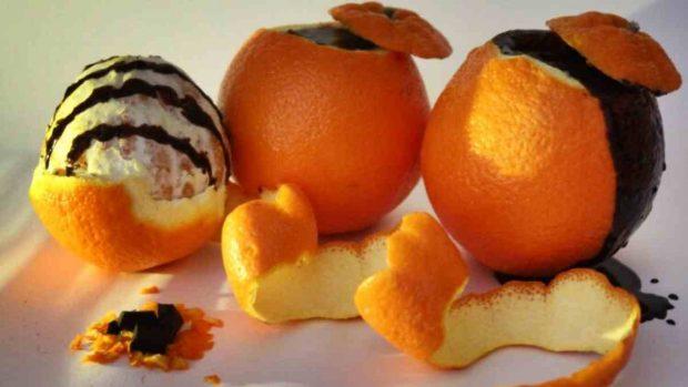 Milhojas de naranja y chocolate