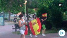 Caceroladas contra Sánchez en el barrio de Fuencarral.
