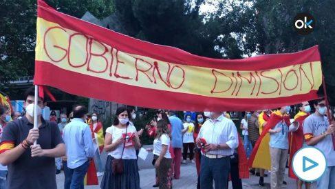 Cacerolada contra el Gobierno este jueves en Paseo de la Habana (Madrid).