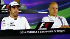 Fernando Alonso y Valtteri Bottas. (Getty)