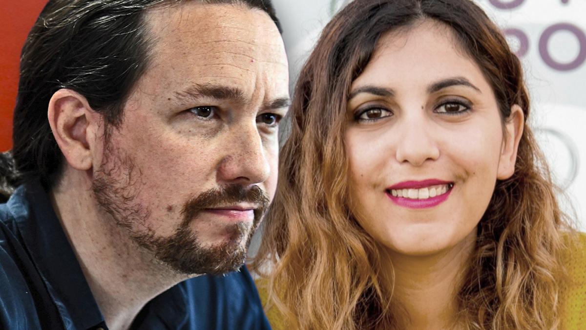 Pablo Iglesias y Dina Boussellham