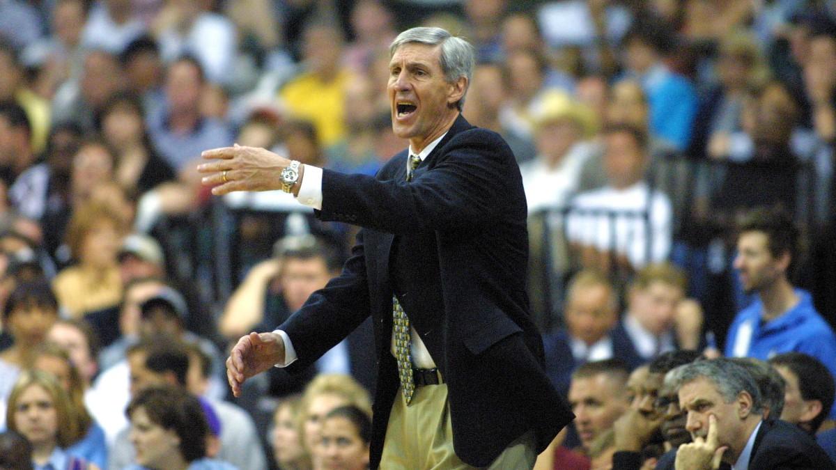 Jerry Sloan, en su etapa como entrenador de Utah Jazz. (Getty)
