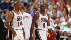 Jordan y Barkley, con Estados Unidos. (NBAE)
