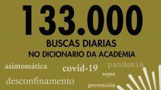 La Real Academia Galega ha decidido incorporar a su diccionario varias palabras relacionadas con la pandemia del coronavirus.
