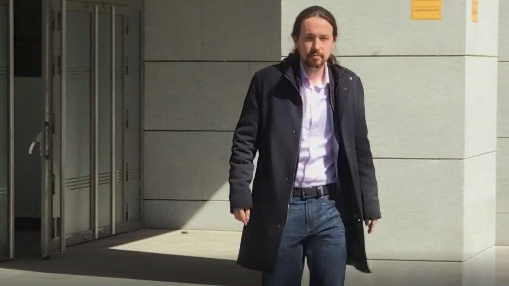 Pablo Iglesias en la Audiencia Nacional.