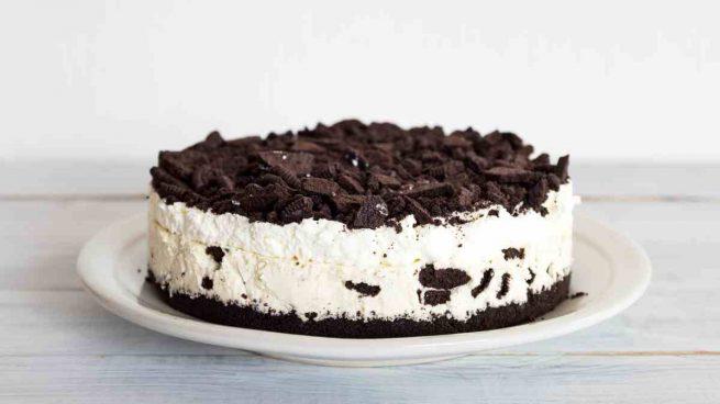 Deliciosa tarta de galletas Oreo y queso