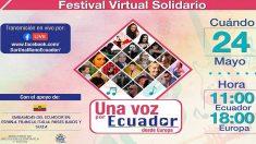 Cartel del festival virtual.