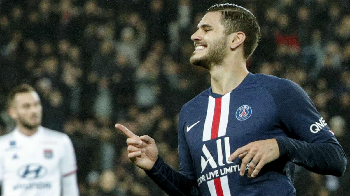 Icardi celebra un gol con el PSG. (AFP)