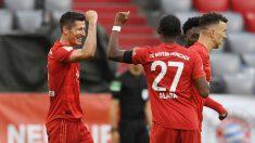 Los jugadores del Bayern celebran un gol. (AFP)