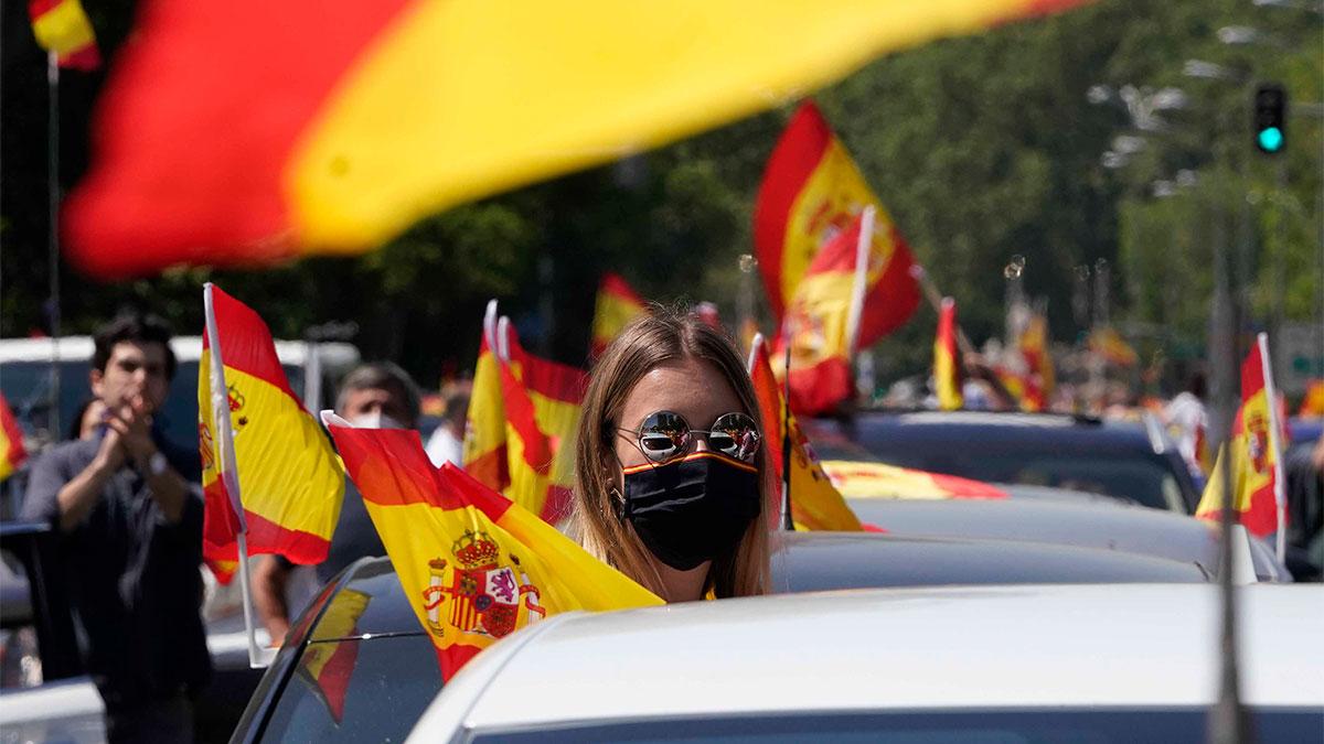 Manifestación de Vox contra el Gobierno de Pedro Sánchez.