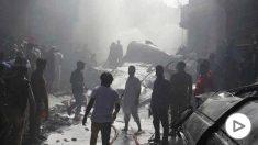 Imagen del avión que se ha estrellado en Karachi (Pakistán). Foto: Europa Press