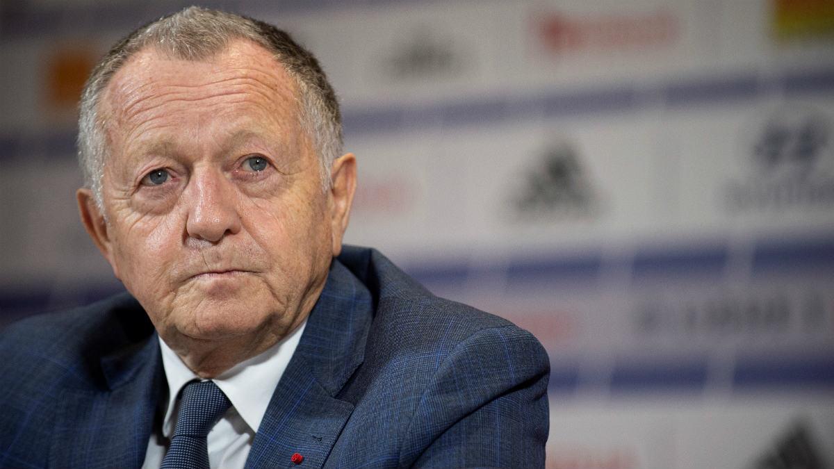 Jean Michelle Aulas, presidente del Olympique de Lyon. (AFP)