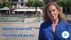 La vicesecretaria de Organización del PP, Ana Beltrán, cuestiona el último pacto de Sánchez con Bildu.