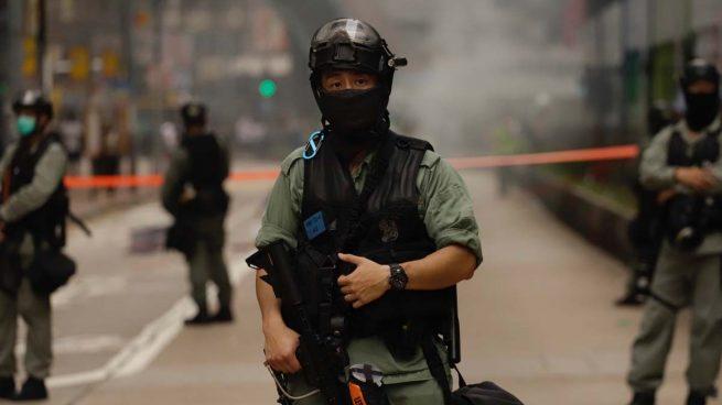 efectivos militares en las calles de Hong Kong