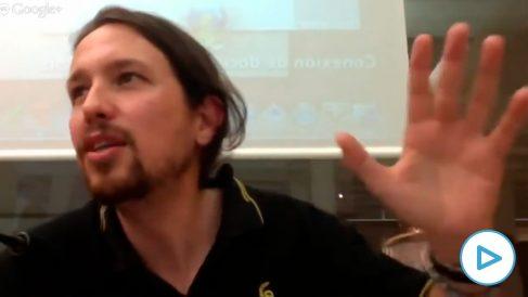 Pablo Iglesias en una conferencia en septiembre de 2013.