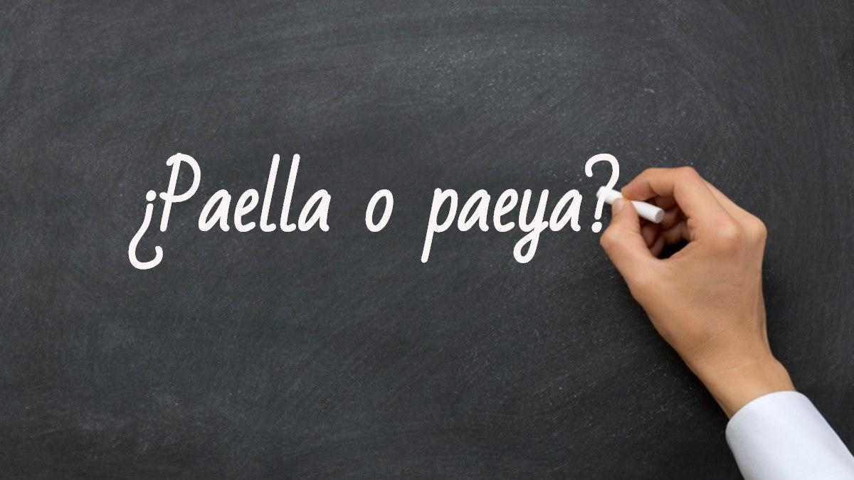 Se escribe paella o paeya