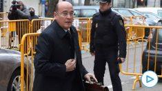 El coronel de la Guardia Civil Diego Pérez de los Cobos en el Tribunal Supremo. (Foto: EFE)