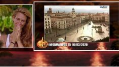 Elena muy sorprendida con las imágenes de España