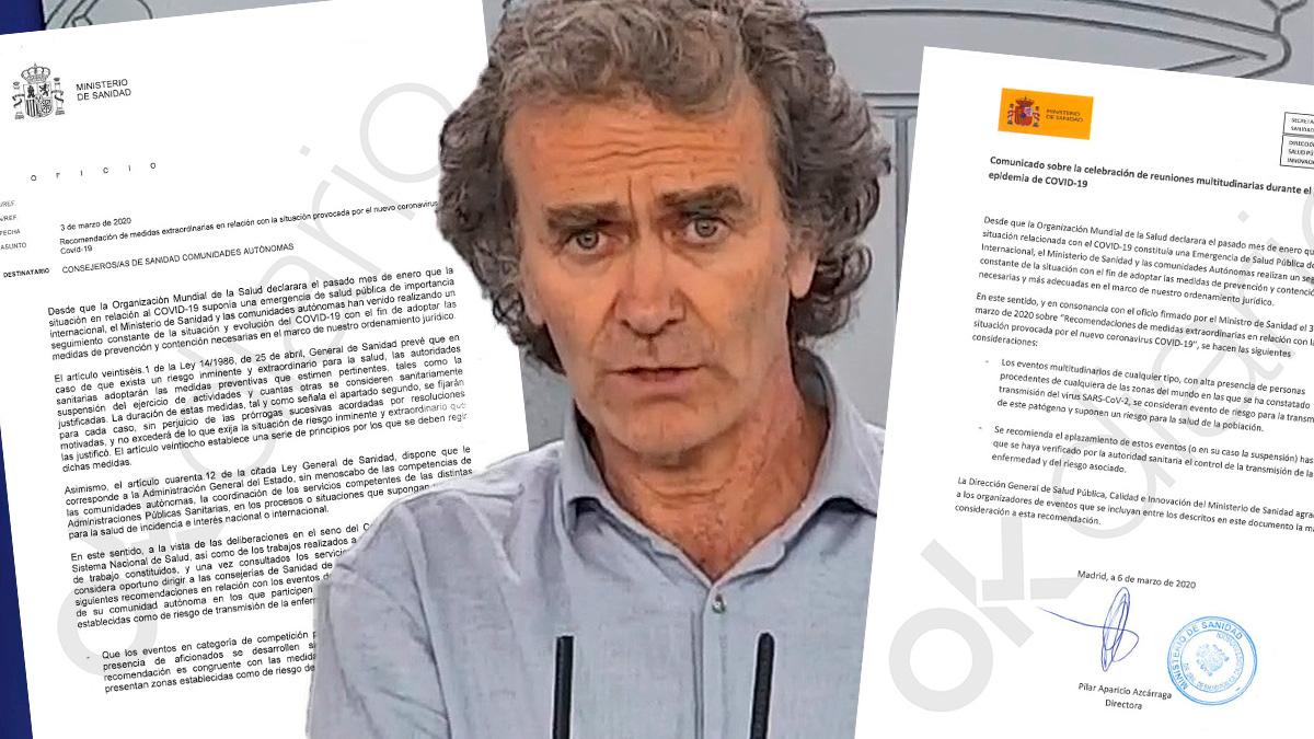Fernando Simón y los dos informes cuyos detalles ha reclamado la juez a Sanidad.