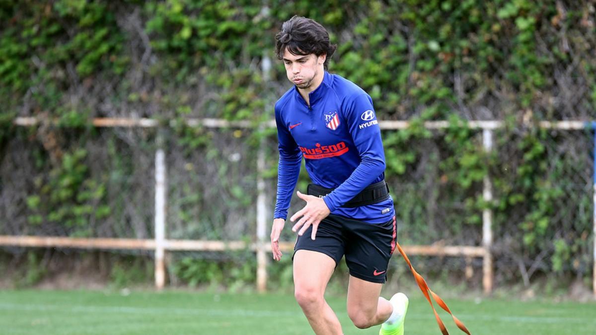 Joao Félix, en un entrenamiento. (Atlético de Madrid)
