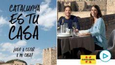 Quim Torra vende una Cataluña idílica sin esteladas ni pancartas separatistas para atraer al turismo español.