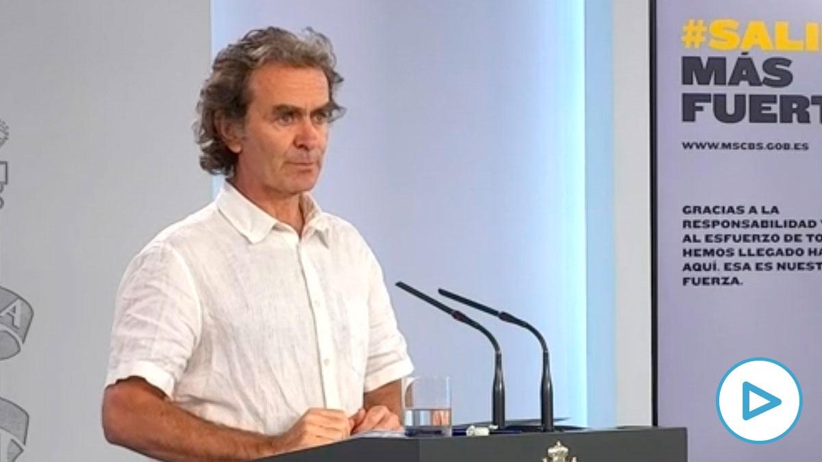 Fernando Simón durante la rueda de prensa de este lunes, 25 de mayo.
