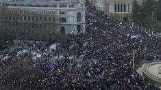 Manifestación del 8M en Madrid. (Foto: Comisión 8M vía Twitter)