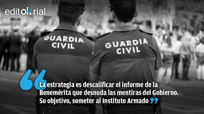 El socialcomunismo rabia y se revuelve contra la Guardia Civil
