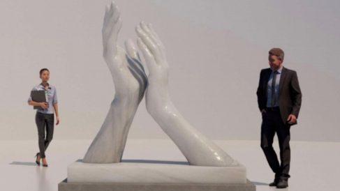 Estatua de homenaje en Andalucía.