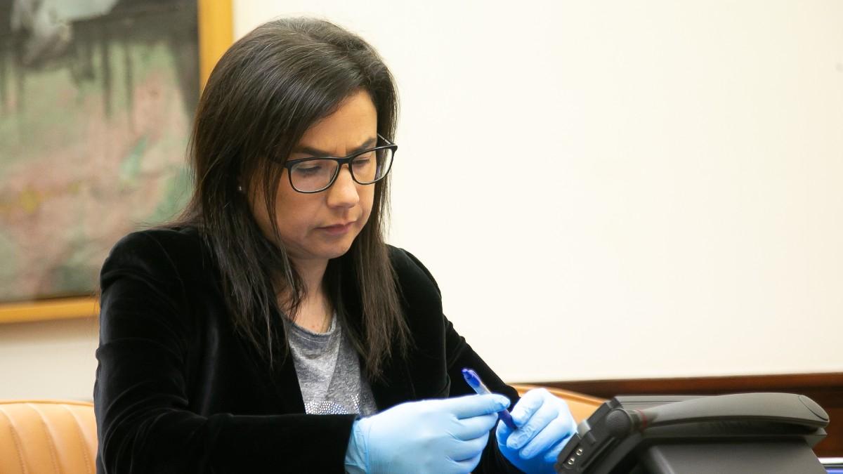 La diputada del PP Ana Belén Vázquez, durante la comparecencia del ministro del Interior, Fernando Grande-Marlaska. Foto: EP