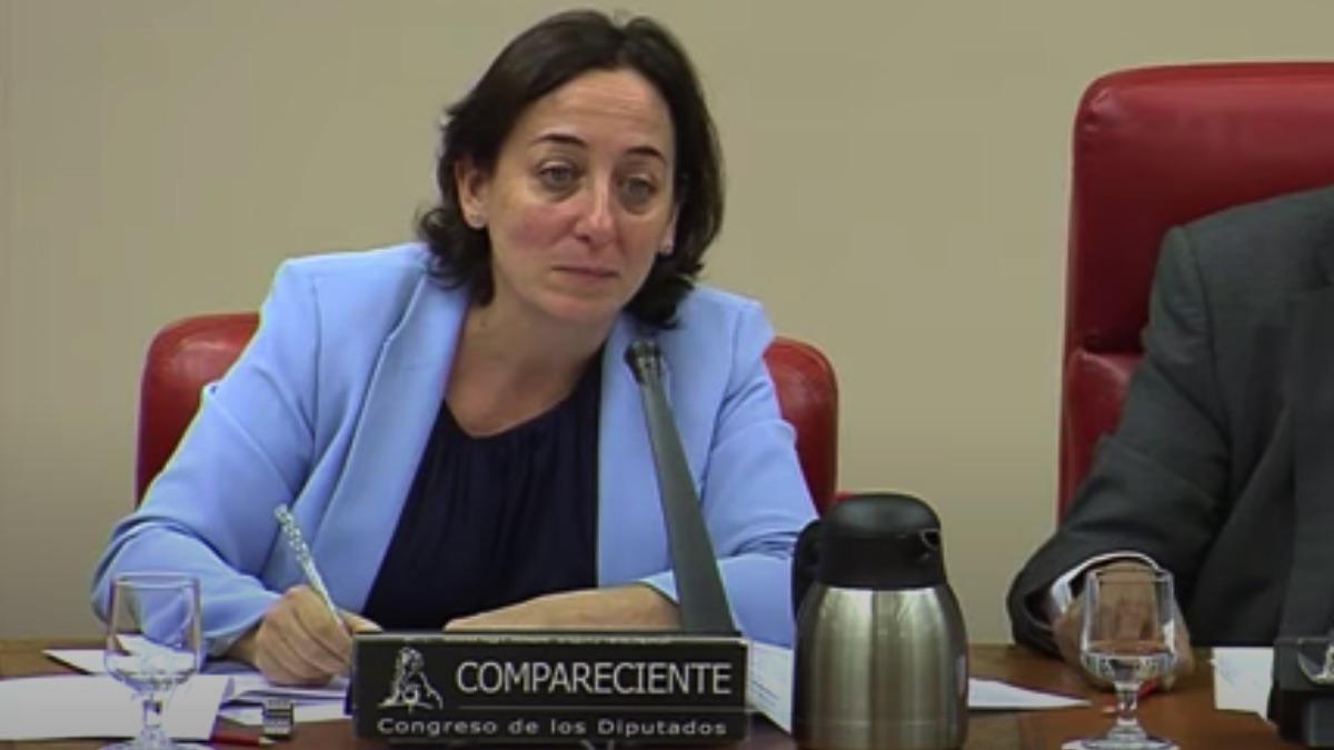 La jueza Carmen Rodríguez-Medel Nieto en el Congreso de los Diputados.