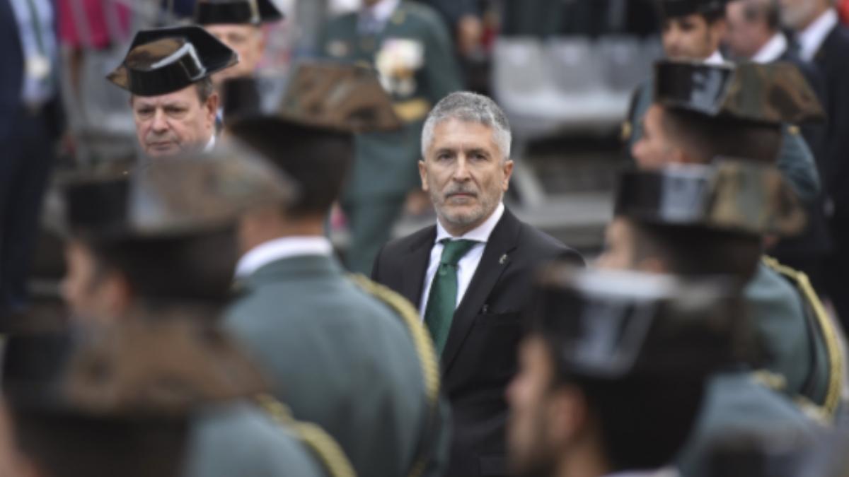 Fernando Grande-Marlaska, ministro del Interior, durante un acto de la Guardia Civil.