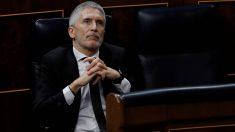 El ministro del Interior, Fernando Grande-Marlaska, en el Congreso de los Diputados.