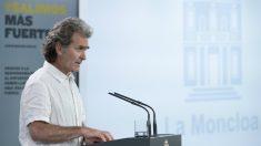 Fernando Simón comparece en rueda de prensa para informar sobre las novedades del Covid-19. En Madrid, (España), a 26 de mayo de 2020. – Moncloa