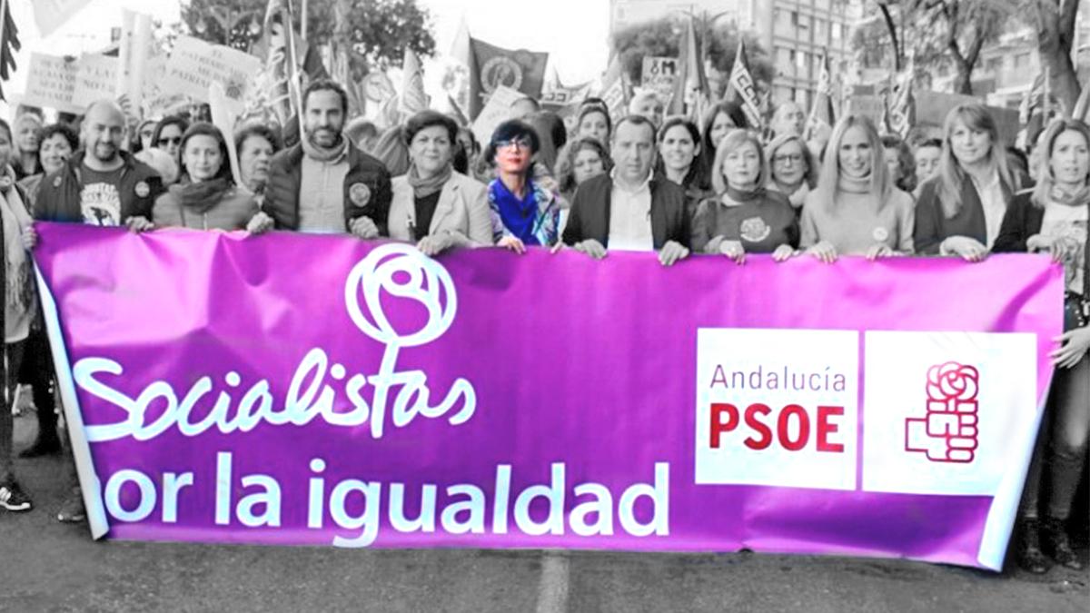 La directora de la Guardia Civil, María Gámez, en la manifestación del 8M.