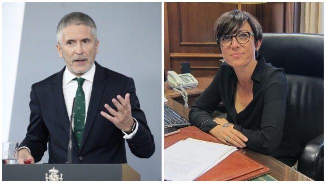 Fernando Grande-Marlaska y María Gámez