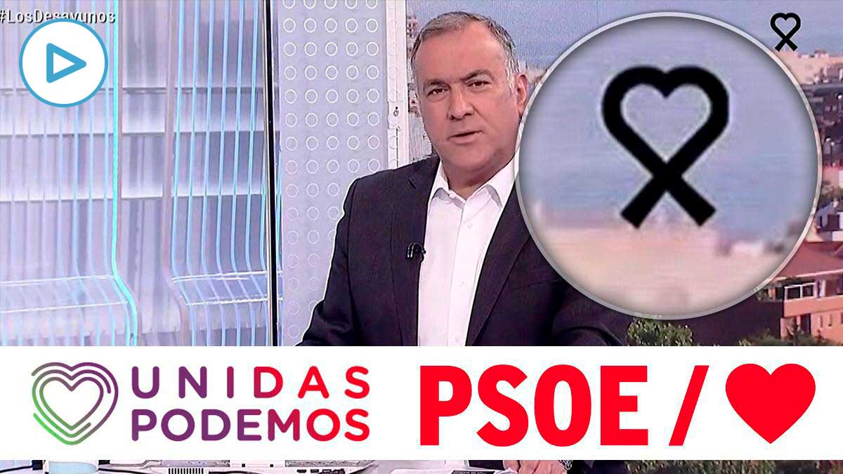 RTVE coloca un crespón con un corazón