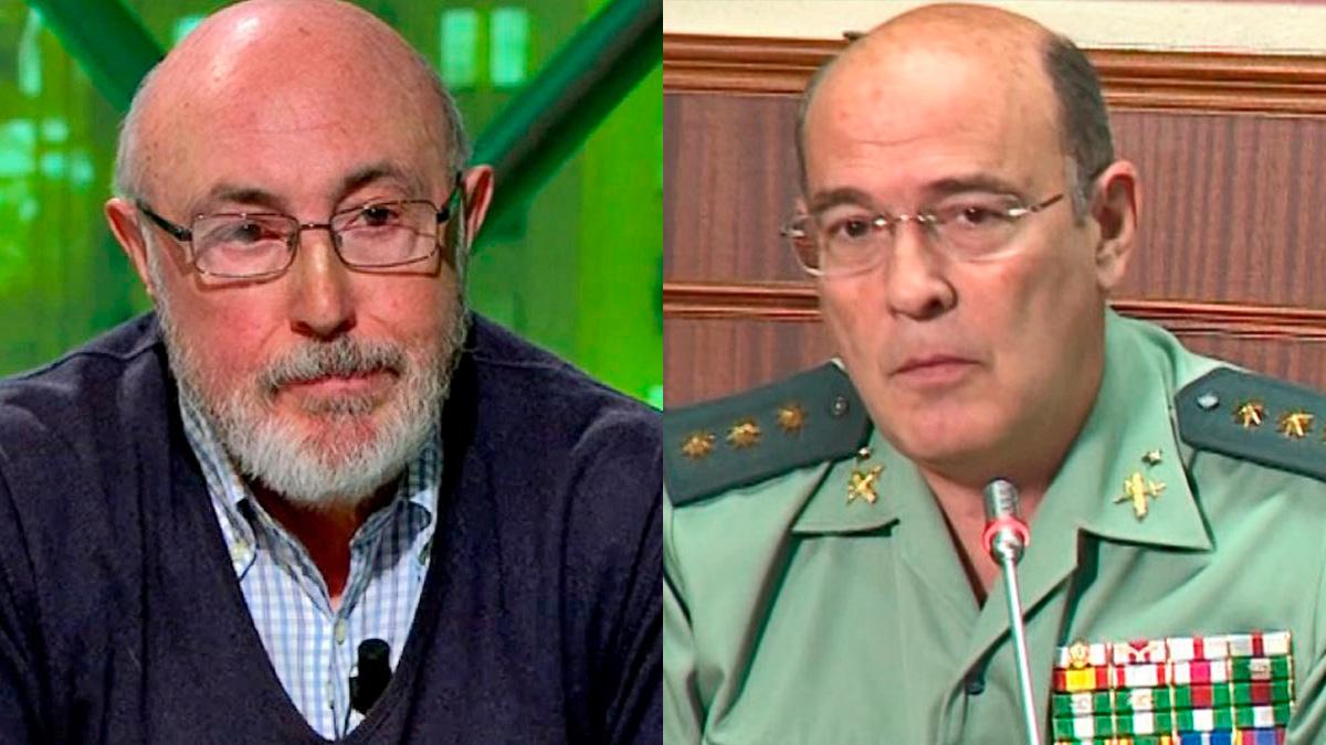 El ex director de la Guardia Civil Luis Roldán y el coronel Diego Pérez de los Cobos.