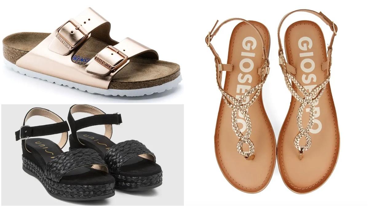 Las sandalias son el calzado estrella cuando llega el buen tiempo