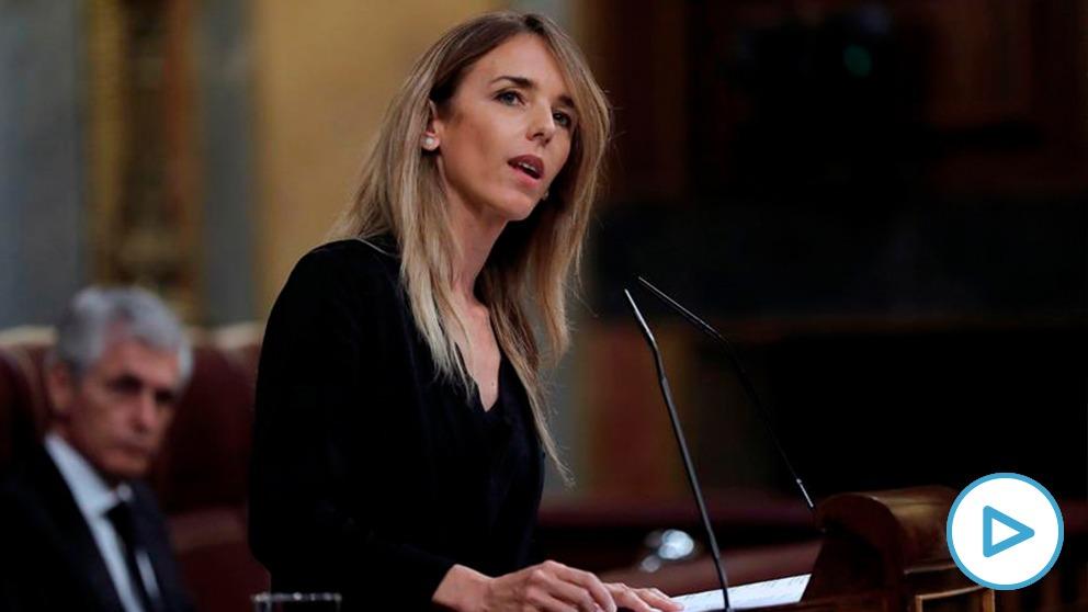 Cayetana llamando «hijo de un terrirorista» a Pablo Iglesias en el Congreso de los Diputados.