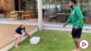 La broma de Neymar a su hijo.