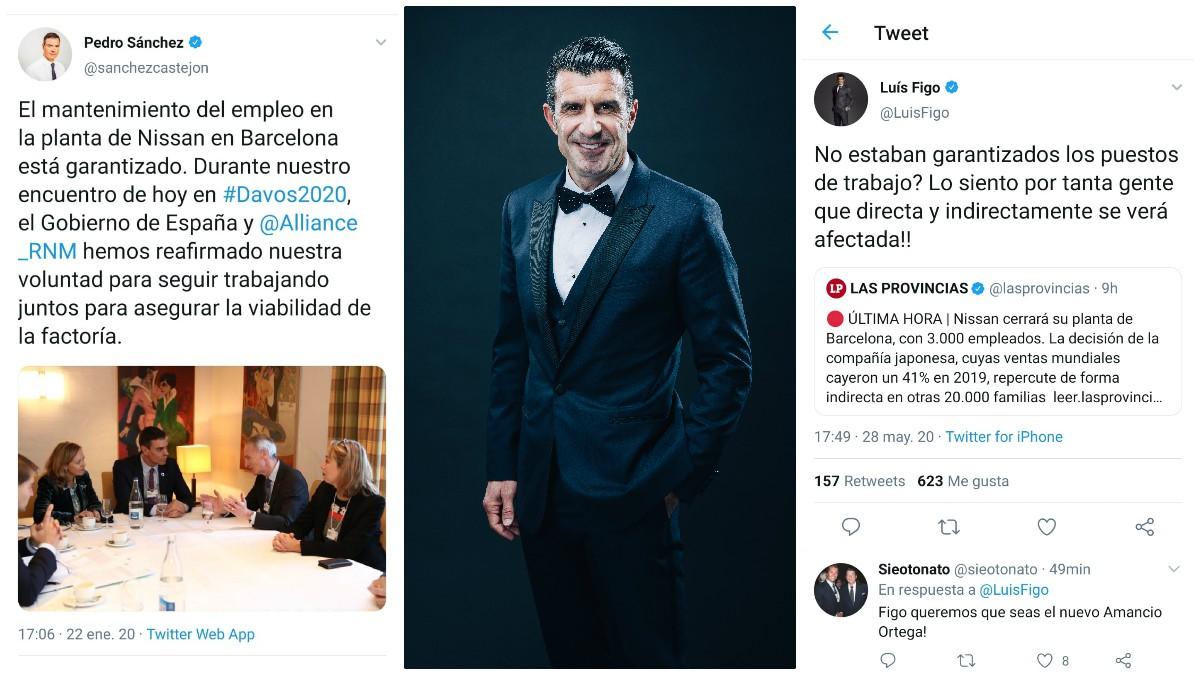 Luis Figo ha vuelto a dejar retratado a Pedro Sánchez.