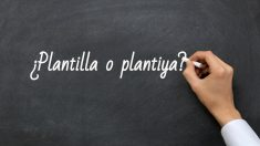 Se escribe plantilla o plantilla