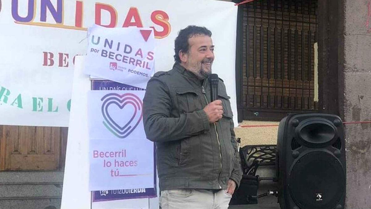 Antonio Casiano Hernández durante la campaña electoral de las elecciones municipales de mayo de 2019. (Foto: Twitter IU-Podemos)