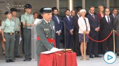 El teniente general Santafé durante su toma de posesión como Jefe del Mando de Operaciones de la Guardia Civil.