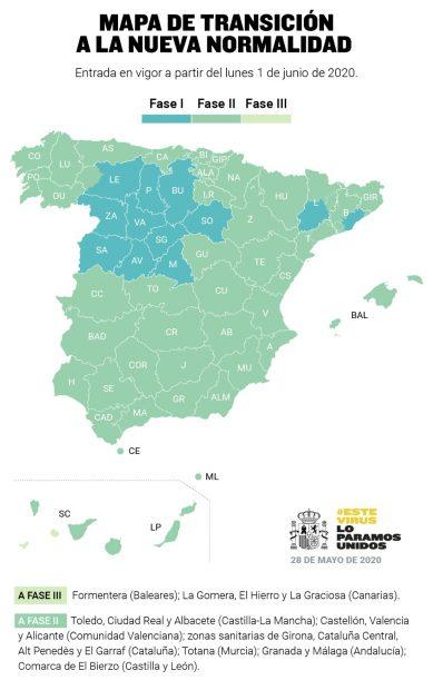 Coronavirus en España hoy: última hora de las fases de la desescalada y número de contagiados y muertos, en directo