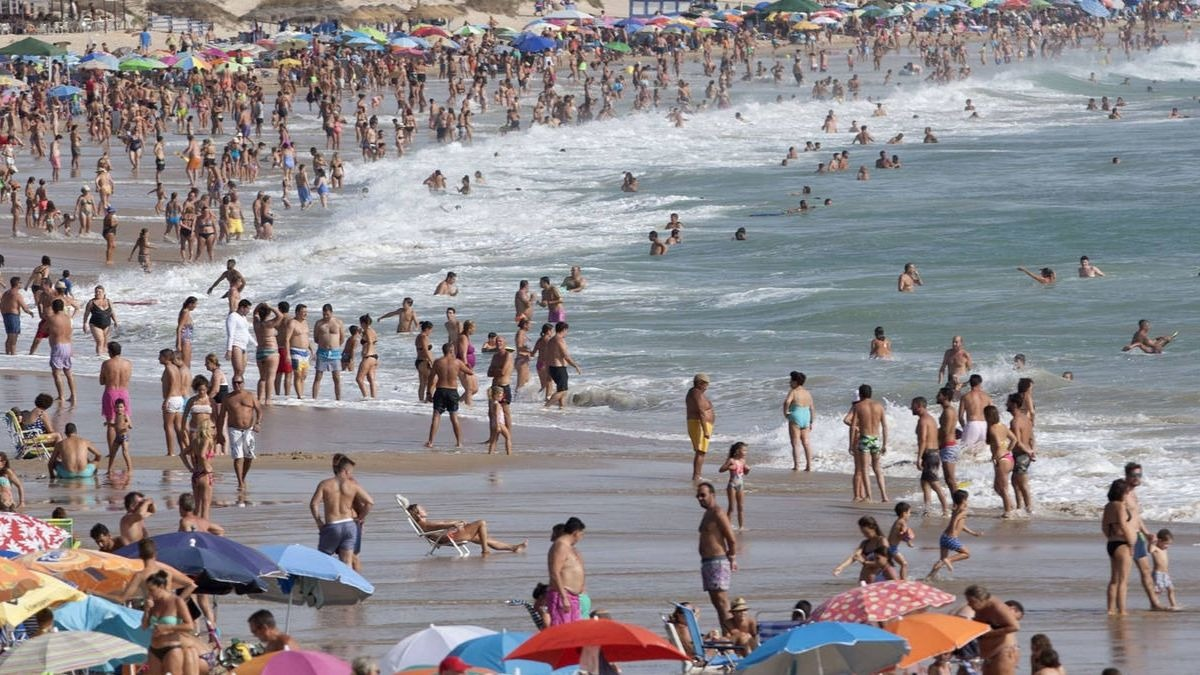 Turismo en la playa.