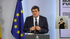 El ministro de Seguridad Social, José Luís Escrivá, durante la presentación del ingreso mínimo vital